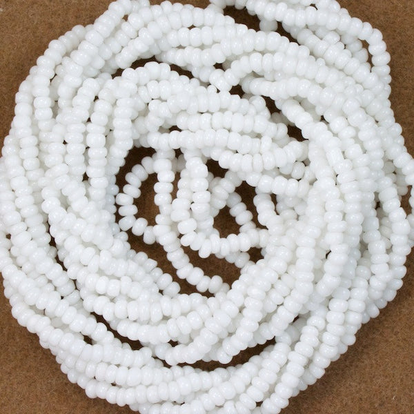 14/0 White Antique Seed Bead