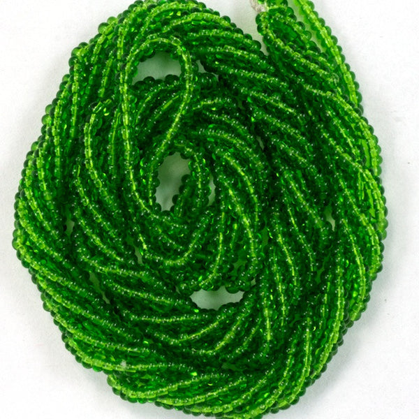 14/0 Leaf Green Antique Seed Bead