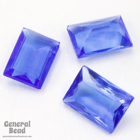 10mm x 15mm Transparent Sapphire Faceted Rectangle Cabochon