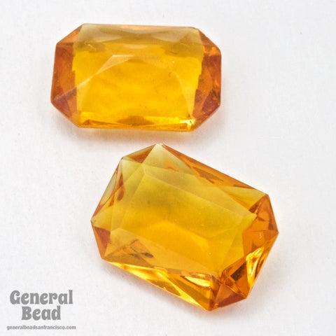 13mm x 16mm Transparent Topaz Faceted Octagon Cabochon