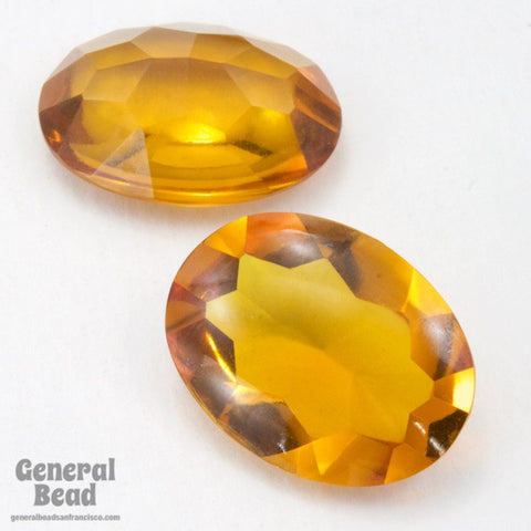 15mm x 20 Topaz Facted Oval Cabochon