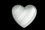 28mm Frosted White Heart Pendant #XS23-I