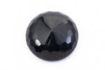 18mm Black Faceted Cabochon #XS41-A