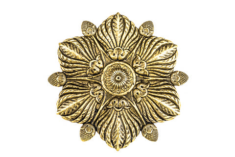 100mm Antique Gold Flower #ZWS007
