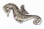 75mm x 40mm Antique Silver Seahorse #ZWS026-General Bead