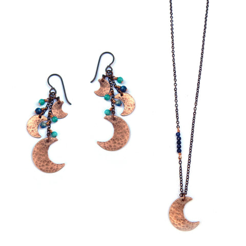 Copper Moon Jewelry Set - Dancing Moon