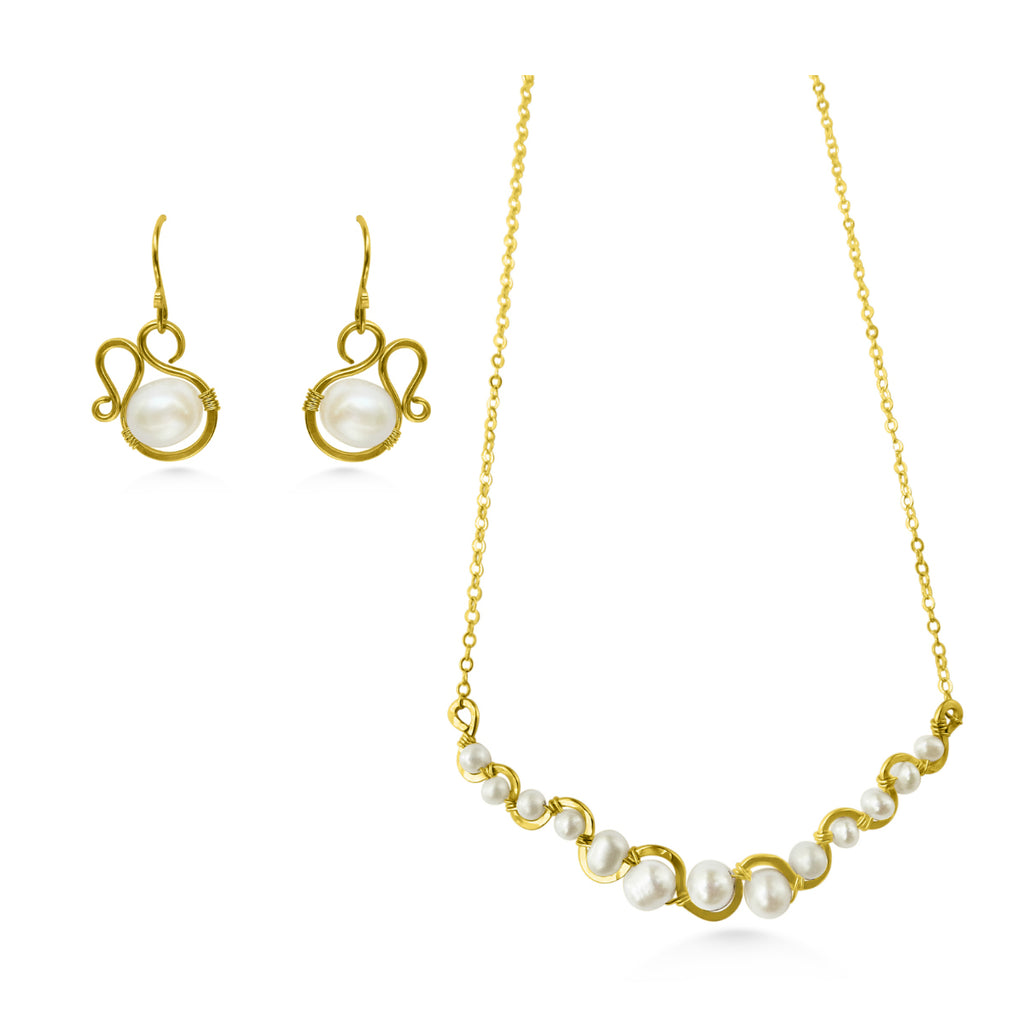 Pearl Jewelry Set - Dancing Moon