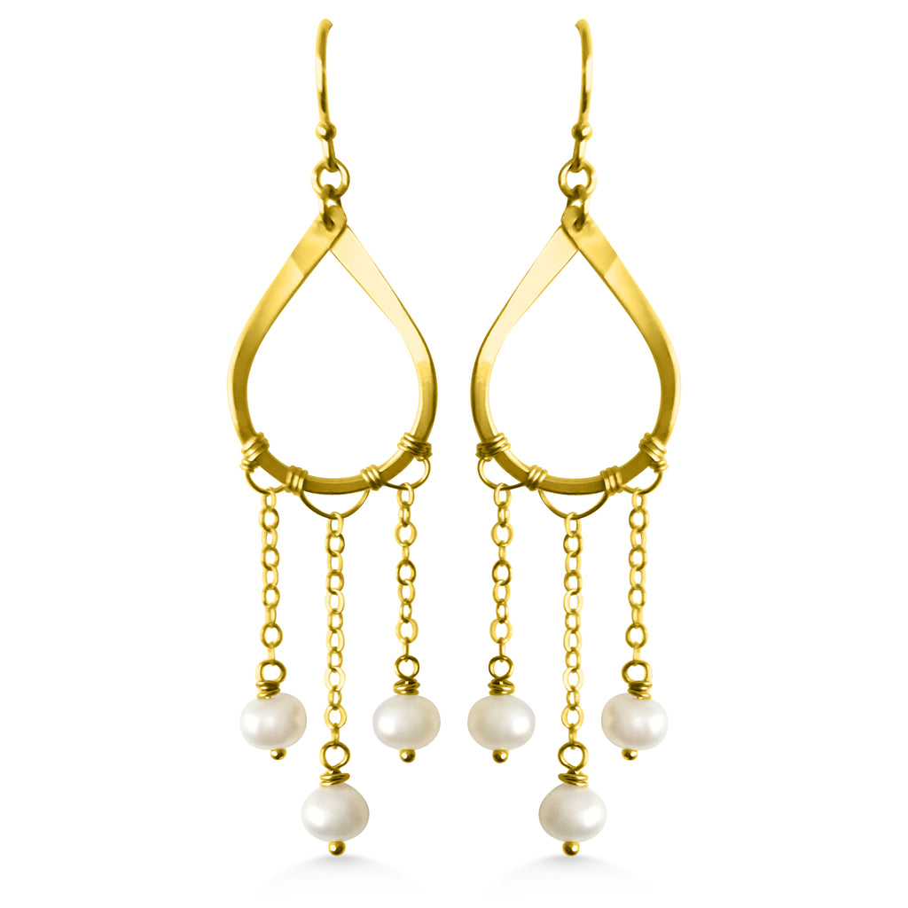 Raindrop falling earrings WS - Dancing Moon