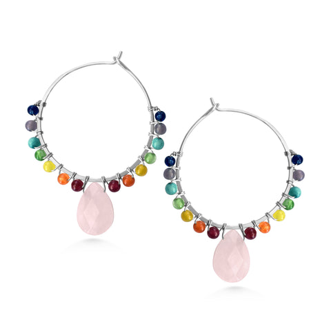 Chakra Hoops, yoga earrings - Dancing Moon