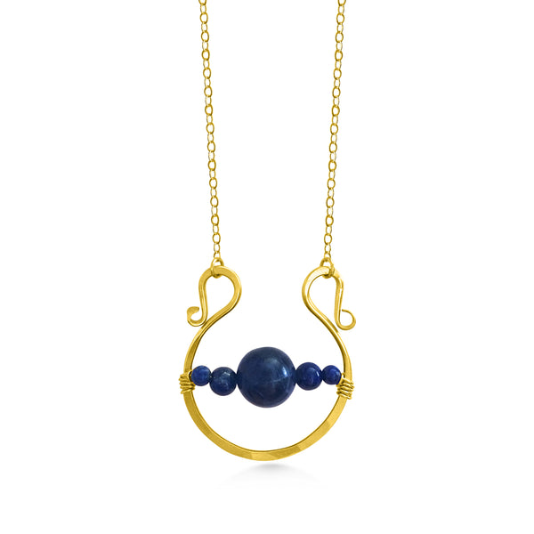Saturn Necklace Large - Dancing Moon
