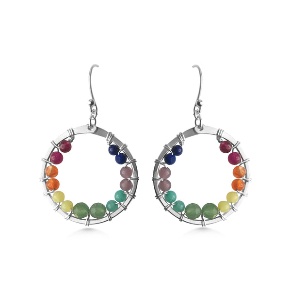 Chakra Full Circle Earrings - Dancing Moon