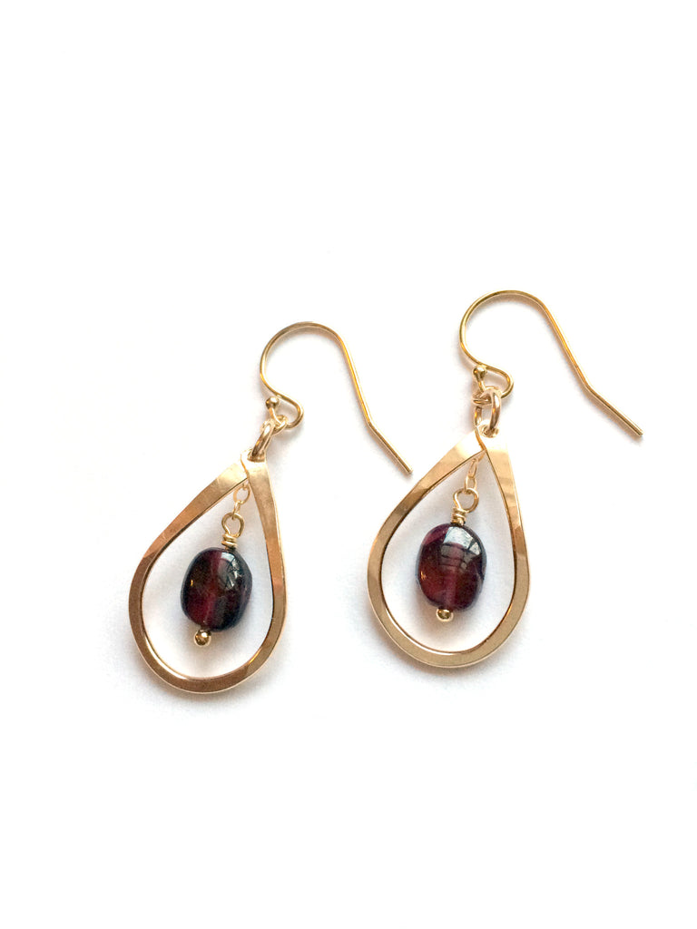 birthstone products dancing garnet moon january earrings