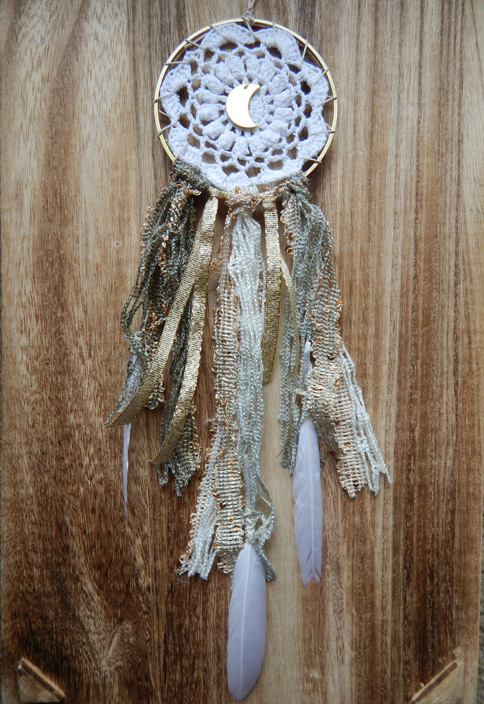 Dream Catcher for Clarity with Crescent Moon - Dancing Moon - 2