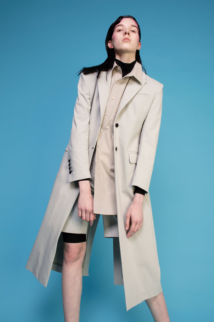 SINGLE-BREASTED TAILORED COAT BEIGE