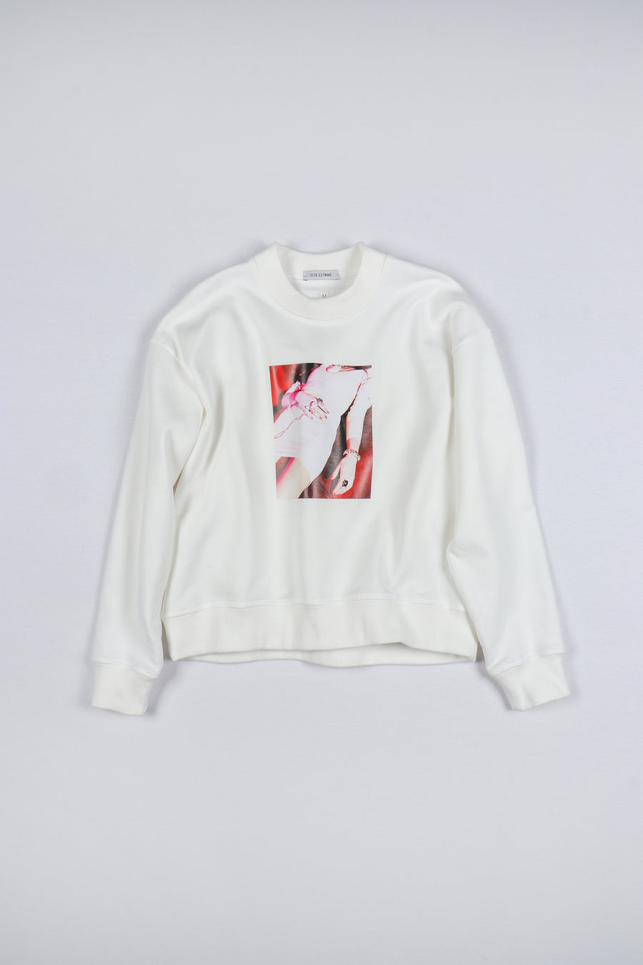 WHITE ONE PHOTO SWEATSHIRT
