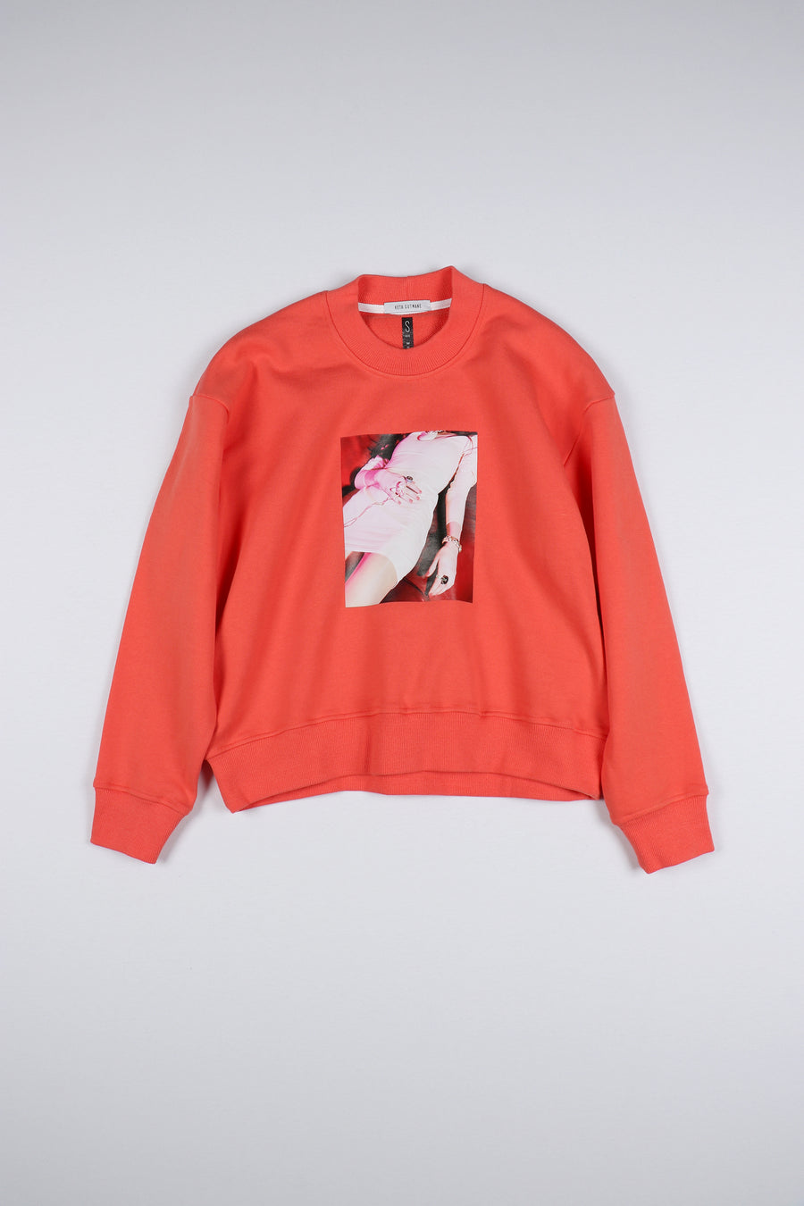 PINK/ORANGE PHOTO STORY SWEATSHIRT
