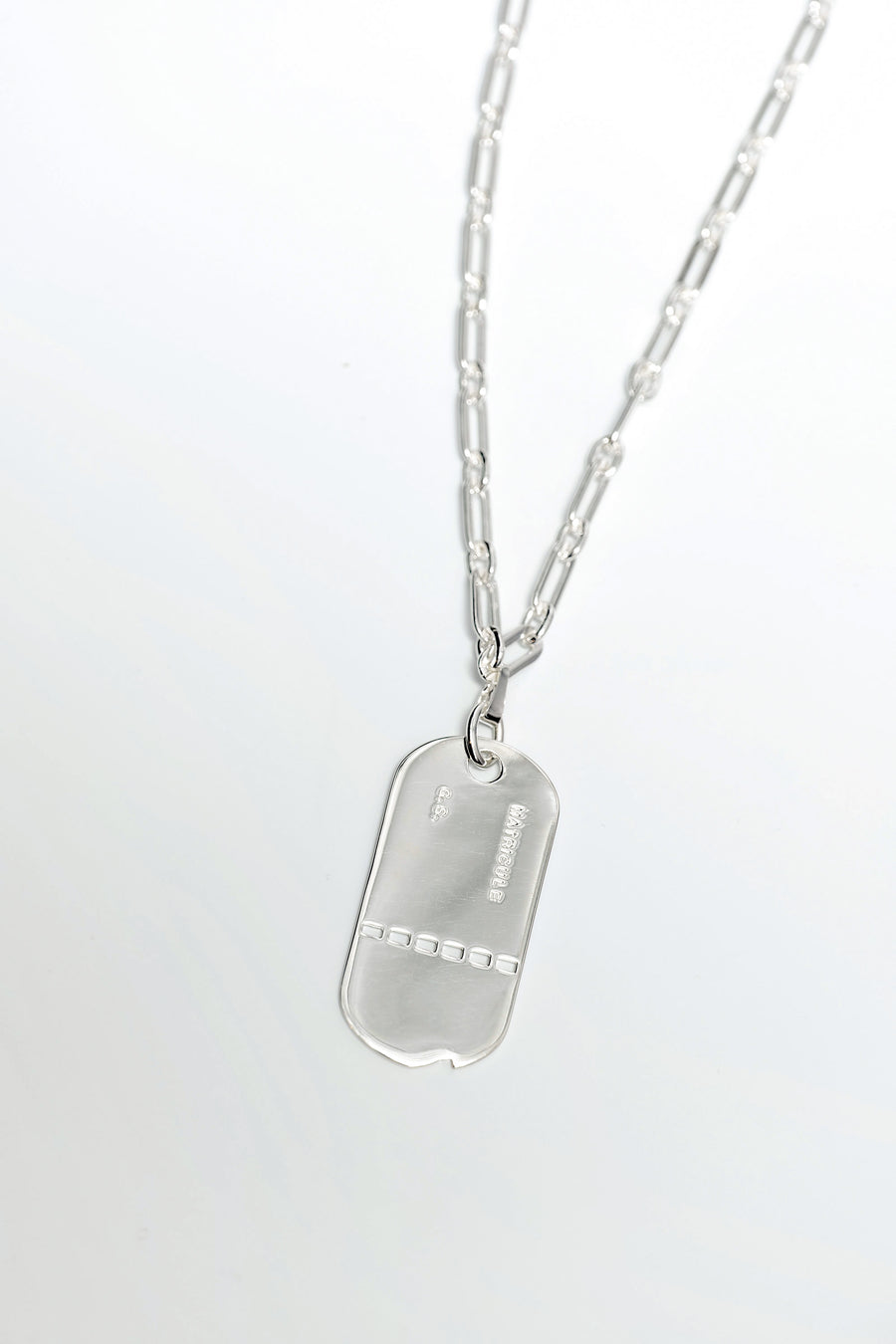 STATEMENT DOG TAG PENDENT NECKLACE