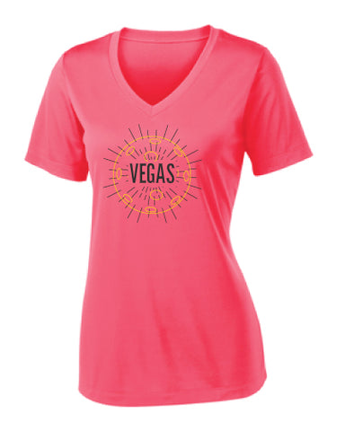 Las Vegas Sunset Performance V-Neck