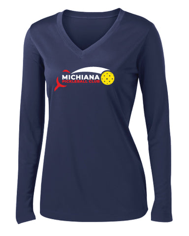 Michiana Pickleball Club LS Sport V-Neck