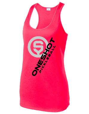 Oneshot Pickleball Billboard Sport Racer Tank