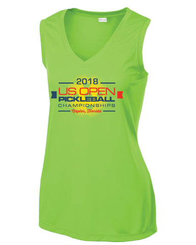 2018 US Open Pickleball Limited Edition Performance Women's V-Neck Tank