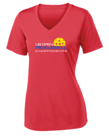US Open Pickleball Logo Performance V-Neck