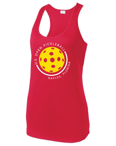 US Open Pickleball Rounded Racerback Tank