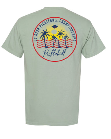 US Open Pickleball Sunset Comfort Pocket T-Shirt