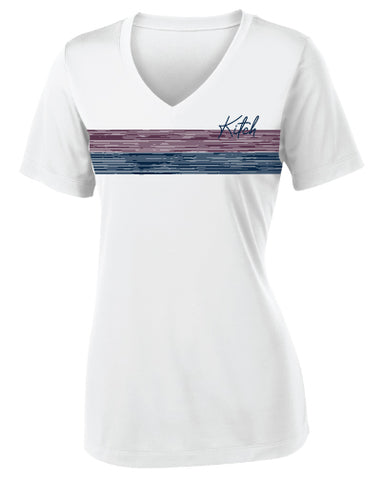 Kitch Coastal Lines Sport V-Neck