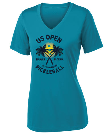 US Open Pickleball Tropics Sport V-Neck