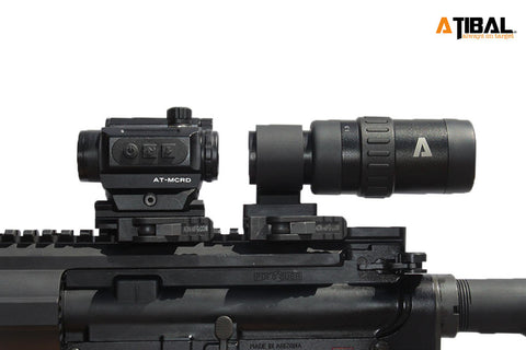 AT-MCRD Micro Red Dot & AT-M15 Variable Magnifier Combo - ATIBAL  - 1