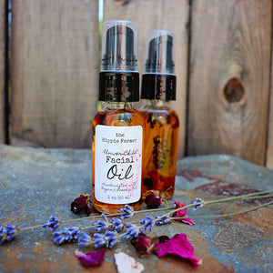 Flower Child Facial Oil - 1oz Glass Bottle