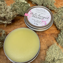 Load image into Gallery viewer, Herbal Infused Anti Fungal Salve - For fungal infections of the feet, nails & more - 2 oz or 4 oz Tin
