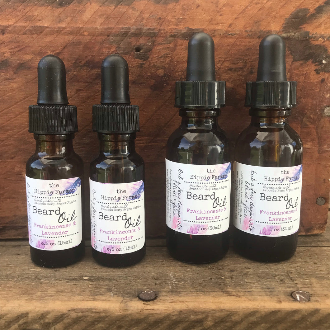 Beard Oil - Frankincense and Lavender Essential Oils