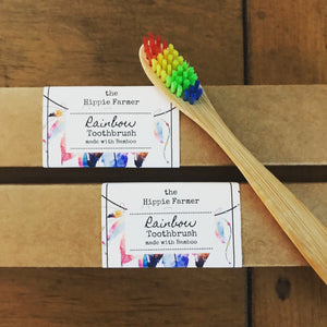 Bamboo Toothbrush - Soft Rainbow Bristle