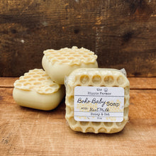 Load image into Gallery viewer, Goat Milk Boho Baby Soap - Honey Oat or Lavender Essential Oil - 3 oz