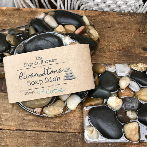 River Stone Soap Dish - Rectangle, Square or Circle