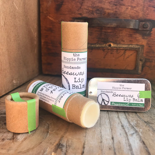 Peppermint Lip Balm - Tube or Tin