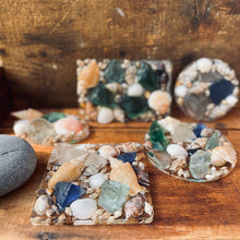 Load image into Gallery viewer, Shells & Sea Glass Soap Dish - Rectangle, Square or Circle