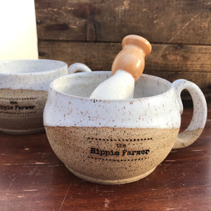 Hand Thrown Ceramic Shave Mug - by Mud & Yarn