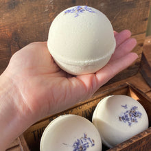 Load image into Gallery viewer, Wild Hemp Bath Bomb with Goat Milk - Lavender Essential Oil - 8oz XLARGE