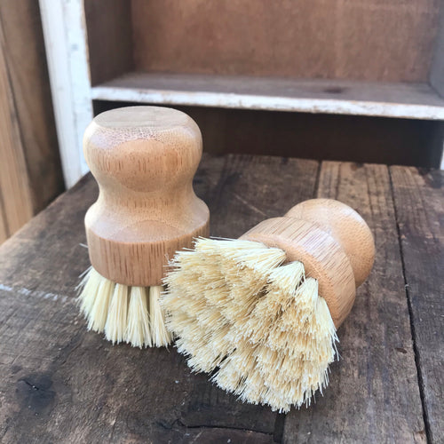 Bamboo Mini Scrub Brush with Coconut Bristles
