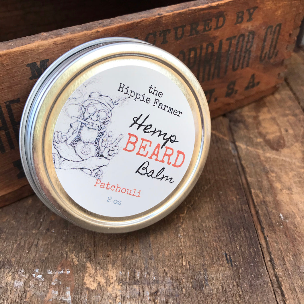 Hemp Beard Balm - 2 oz Tin - Patchouli