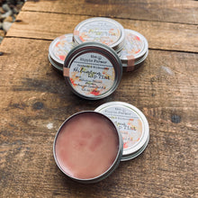 Load image into Gallery viewer, Hibiscus Lip Tinted Balm - 0.5oz Tin - Hibiscus Flower Tinted & Orange Essential Oil