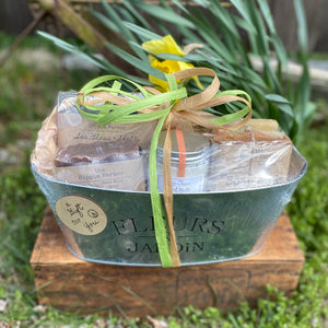Flyers & Jardin Tin Basket - OVAL - Make your own