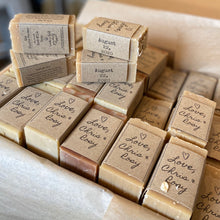 Load image into Gallery viewer, Goat Milk Soap Bar Favors - Weddings, Baby Showers, & more... - Half bar or Full bar (Bulk)