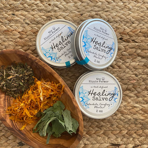 Herbal Infused Healing Salve - For Cuts, scars, scrapes & more - 2 oz or 4 oz Tin