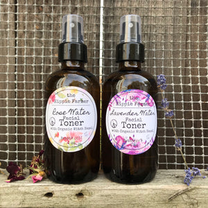 Herbal Water Toners with Organic Witch Hazel - 4oz Spray