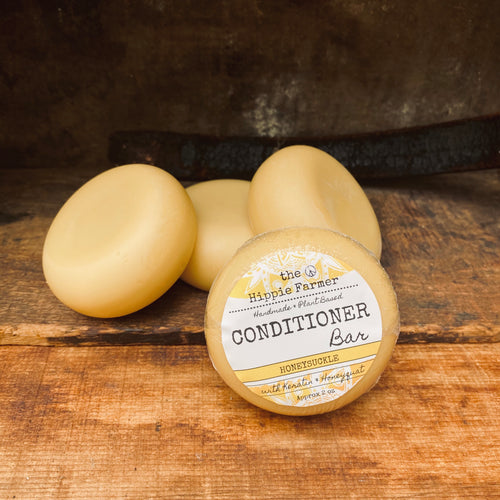 Solid Conditioner Bar with Keratin & Honeyquat- Honeysuckle 2oz