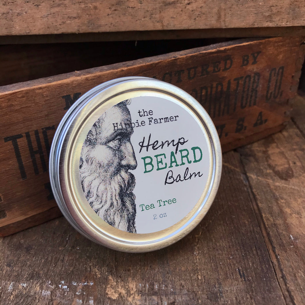Hemp Beard Balm - 2 oz Tin - Tea Tree